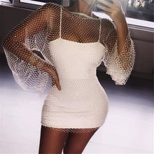 Vikionfly Diamond Beach Cover Up Women Glitter Reflective Short Swimwear Bikini Cover-Ups Beach Dress Swim Wear Beachwear(China)