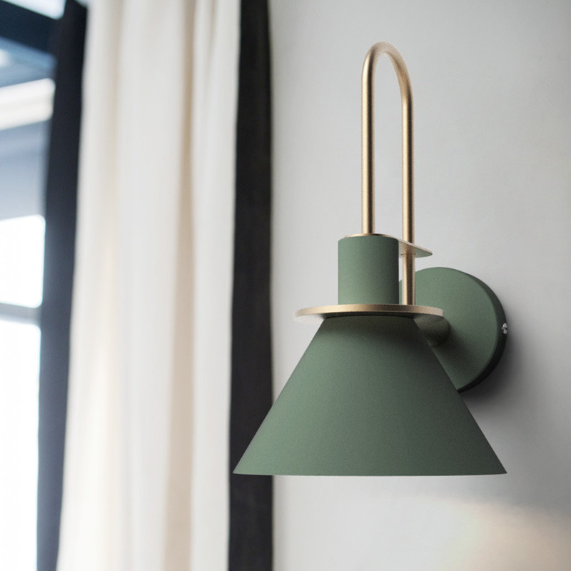 Macarons Лофт спальня светодио дный прикроватный светодиодный настенный светильник креативная Гостиная Исследование проход балкон настенный ...