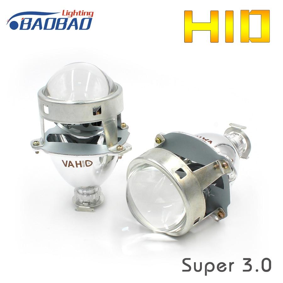 HUJO 3.0 pouces voiture VA HID bi-xénon Hid xénon projecteur lentille en métal universel WST lentille utiliser H1 ampoule voiture style HID xénon phare