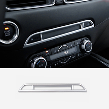 car body cover protection bumper abs chrome trim rear back tail bottom around panel 1pcs for mazda cx 5 cx5 2nd gen 2017 2018 ABS Matte For Mazda CX-5 CX5 2nd Gen 2017 2018 Center Inner Console Seat Heating Upper Stripe Cover Trim Car Accessories 1pcs