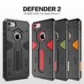 Para apple iphone 7 nillkin caso del defensor ii de lujo híbrido armor tough slim case para apple iphone 7 (4.7 pulgadas) teléfono Contraportadas