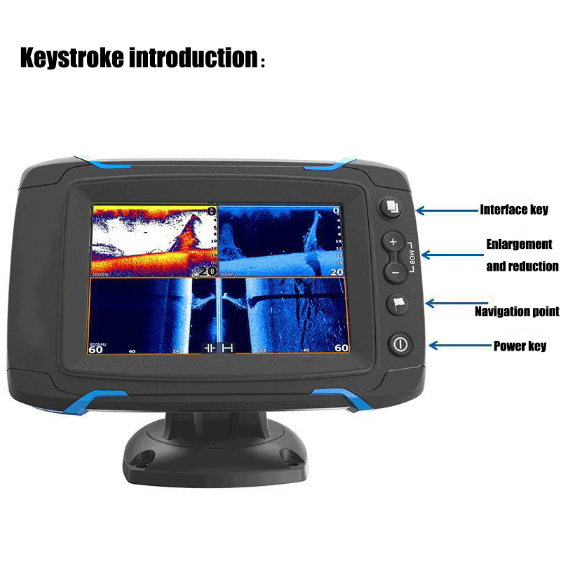 Touch Screen Fish Finder GPS Navigation Marine GPS GPS & Accessories Chart Side Scan Full Scan Sonar Fish Detector Display 10