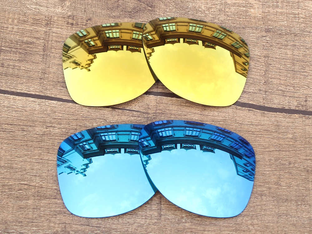 da282a0f98 24K Golden   Ice Blue 2 Pairs Polarized Replacement Lenses For Dispatch 2  Sunglasses Frame 100% UVA   UVB Protection