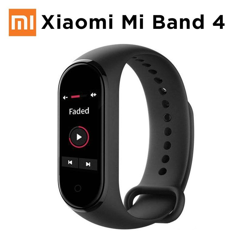 Оригинальный Xiaomi mi Band 4 смарт браслет цветной сенсорный экран Музыка сердечного ритма mi band 4 2019 новый стандарт и NFC две версии