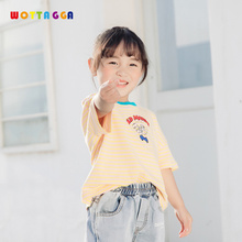 WOTTAGGA 2019 Print Baby Boys Dinosaur T Shirt For Summer Infant Kids Girls  T-Shirts Clothes Cotton Toddler Cartoon Tops