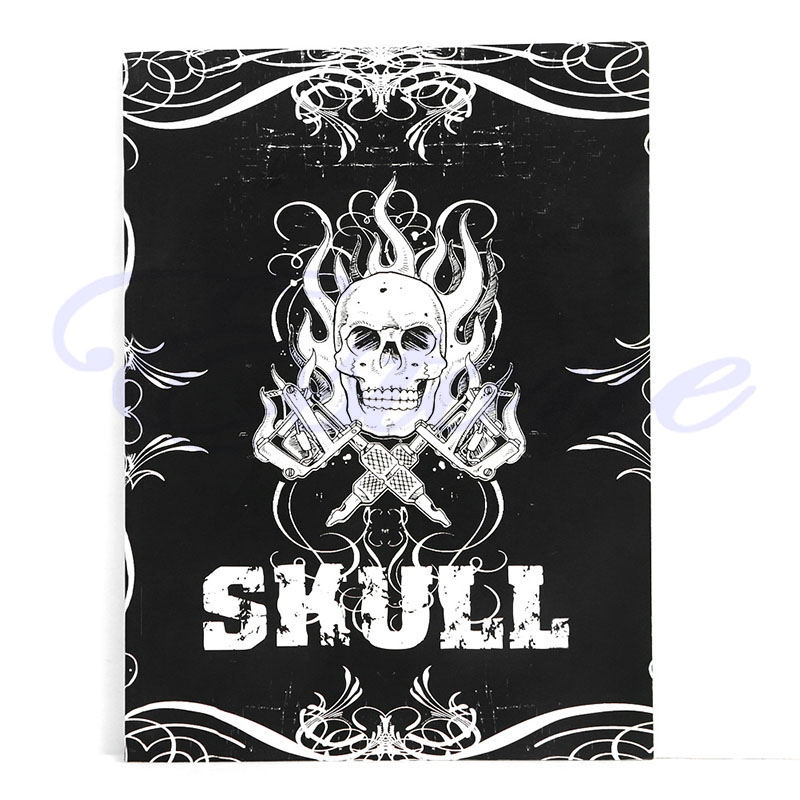 a4 tattoo book black sexy skull design sketch flash book tattoo flash sketchbook 76 Pages Selected Skull Design Sketch Flash Book Tattoo Art Supplies A4 New