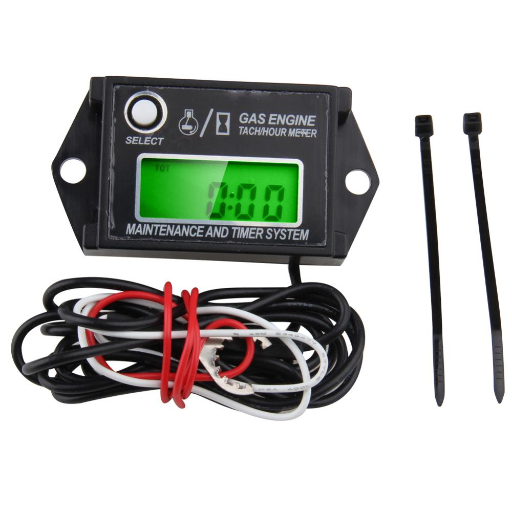 US $19 99 |CARBOLE New Digital Tiny Tachometer Tach Hour Meter Job Timer  Resettable Kohler Briggs-in Multimeters & Analyzers from Automobiles &