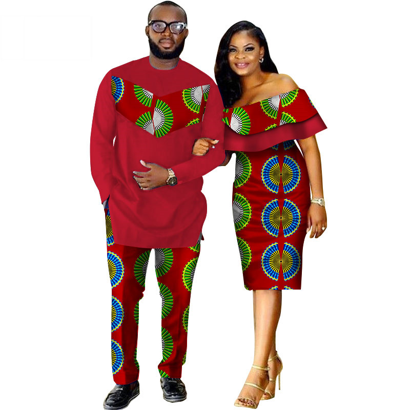 African-Dashiki-Print-Couple-Clothing-for-Lovers-Two-Piece-Set-Men-s-Suit-Plus-Women-s