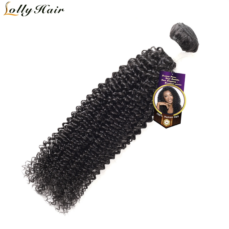 Lolly Hair Mongolian Kinky Curly Hair Natural Color 8-28 inch Curly Weave Human Hair Bundles Remy Hair Extensions 1 Piece Only