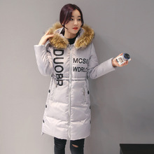 New 2016 Autumn Winter Hooded Thickening Jacket Women Warm Down Jackets Women Outerwear Zippers Down Solid Long Coat FH017