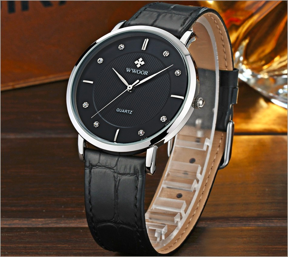 New Top Brand Men Sports Watches Men's Quartz Ultra Thin Clock Genuine Leather Strap Casual Wrist Watch Male Relogio Waterproof 4