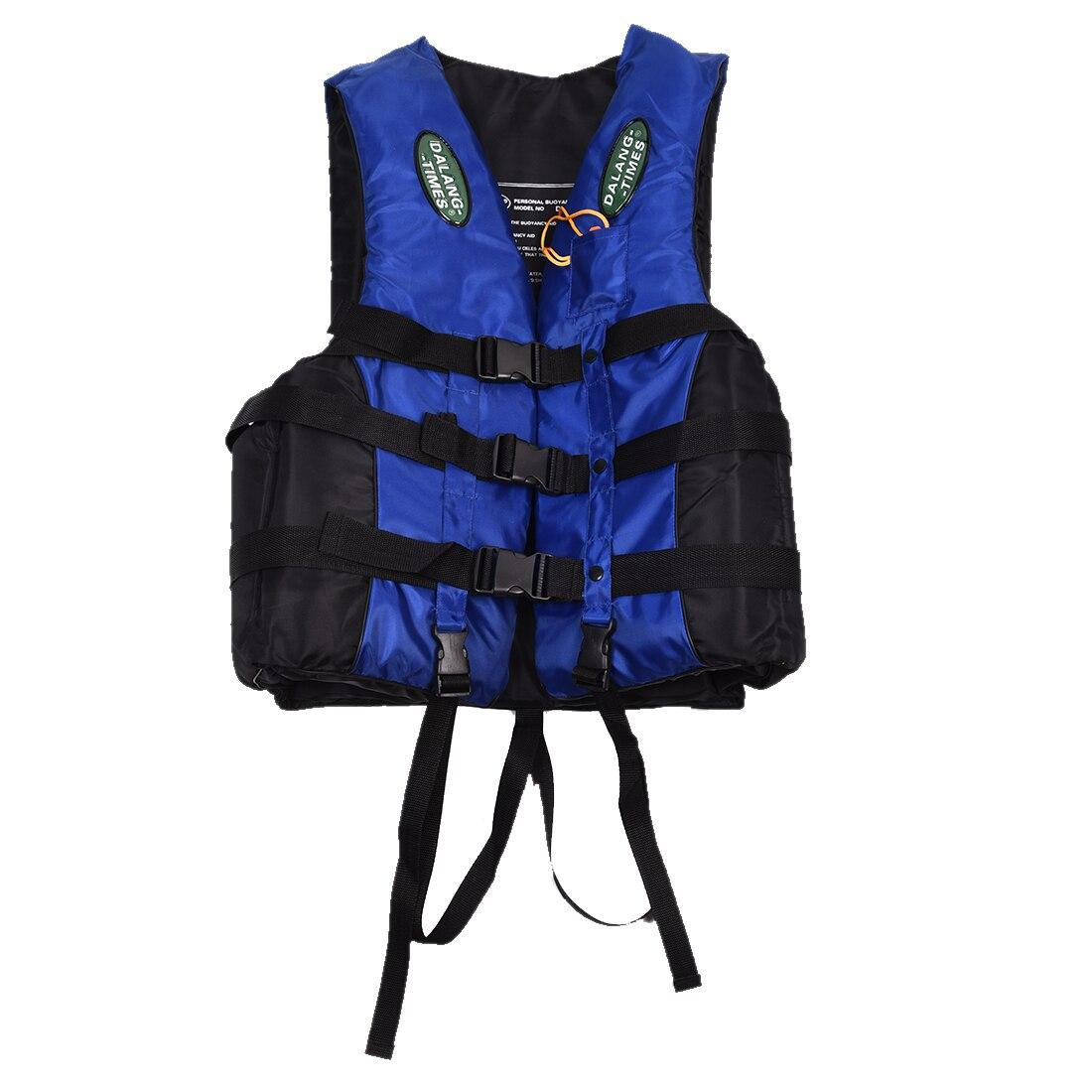 Dalang Times Boating Ski Vest Adult PFD Fully Enclosed Size Adult Life Jacket Blue/ Orange