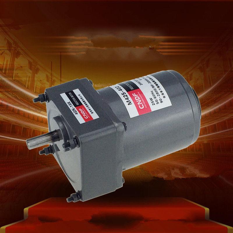 цена на Single phase 110V/115V 220V/230V AC Vertical Gear Motor Governor Adjust the speed 25W M425 4GN 7RPM-450RPM
