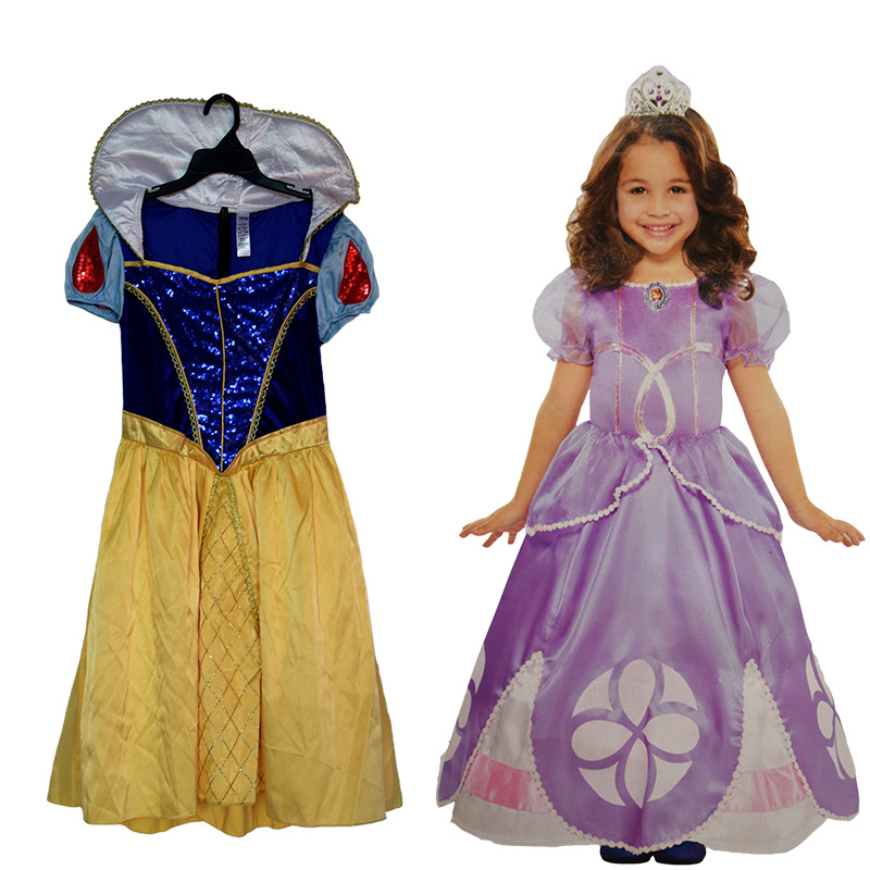 Anime Cosplay for MoviePrincess Snow White Dress 4 Style Baby Girl Clothes Vestidos Costume for Kids in Halloween Carnaval Party