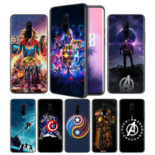 Avengers Endgame Marvel Thanos Soft Black Silicone Case Cover for OnePlus 6 6T 7 Pro 5G Ultra-thin TPU Phone Back Protective