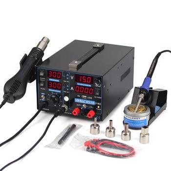цена на 110V/220V Repair Soldering Station  3 in 1 Hot air gun rework station 853D Soldering station power supply soldering