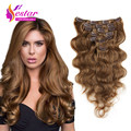 Full Head Clip In Human Hair Extensions #8 Brazilian Body Wave Clip In Hair Extensions Human Hair Clip In Extensions