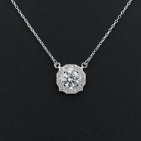 Clear Tiny Hearts and Arrows Cut Austrian Cubic Zirconia Necklaces & Pendants Jewelry Clavicle Chain for Woman