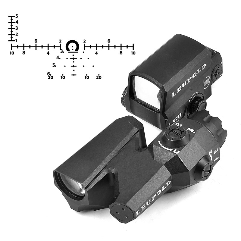LEUPOLD Hunting Dual-Enhanced Optical Sight D-EVO Reticle Rifle Scope with LCO Red Dot Sight Reflex Sight Holographic Sight Caza best quality good m3 type red dot hunting scope collimator sight rifle reflex for shooting