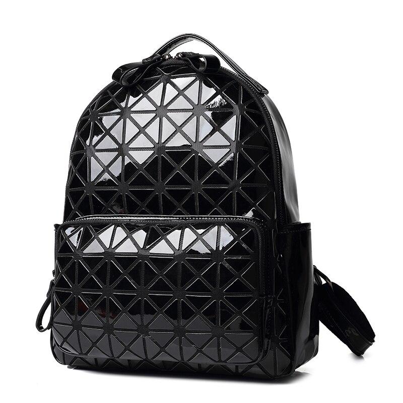 mulheres mochila scool xadrez geométrica Tipo de Estampa : Geométrica