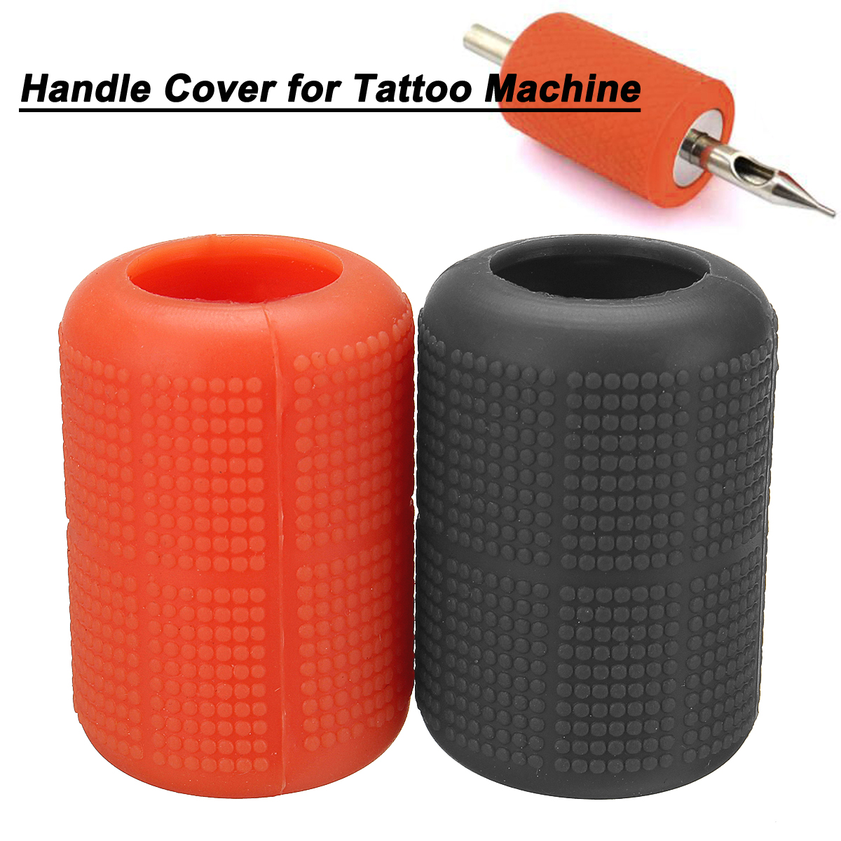 Confortable Tattoo Grip Cover Soft Silicone 22-25mm Washable Handle Cover for Tattoo Machine Two Colors Available Grey OrangeConfortable Tattoo Grip Cover Soft Silicone 22-25mm Washable Handle Cover for Tattoo Machine Two Colors Available Grey Orange