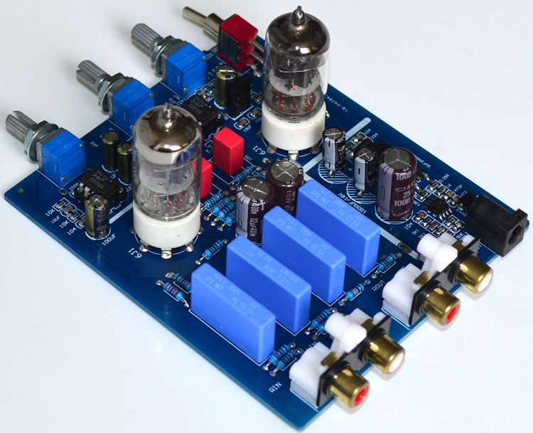 GHXAMP 6j1 Tube Bile Preamplifier HIFI Audio Preamp With Treble Bass adjustment DC12V Electron Valve Preamp Bile Buffer 1pc zhilai d2 hifi tube preamp 6j1 valve audio preamplifier dual channel treble bass with power adapter silver black