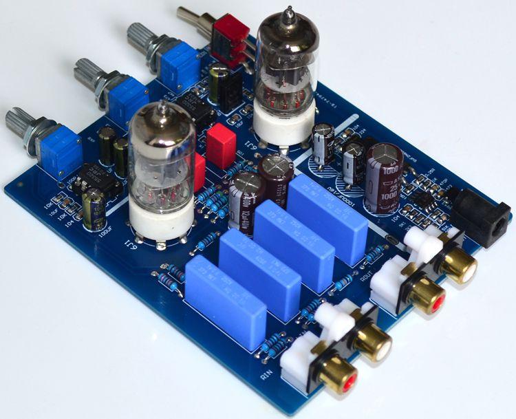 GHXAMP 6j1 Tube Bile Preamplifier HIFI Audio Preamp With Treble Bass adjustment DC12V Electron Valve Preamp Bile Buffer 1pc mesa boogie subway® bass di preamp