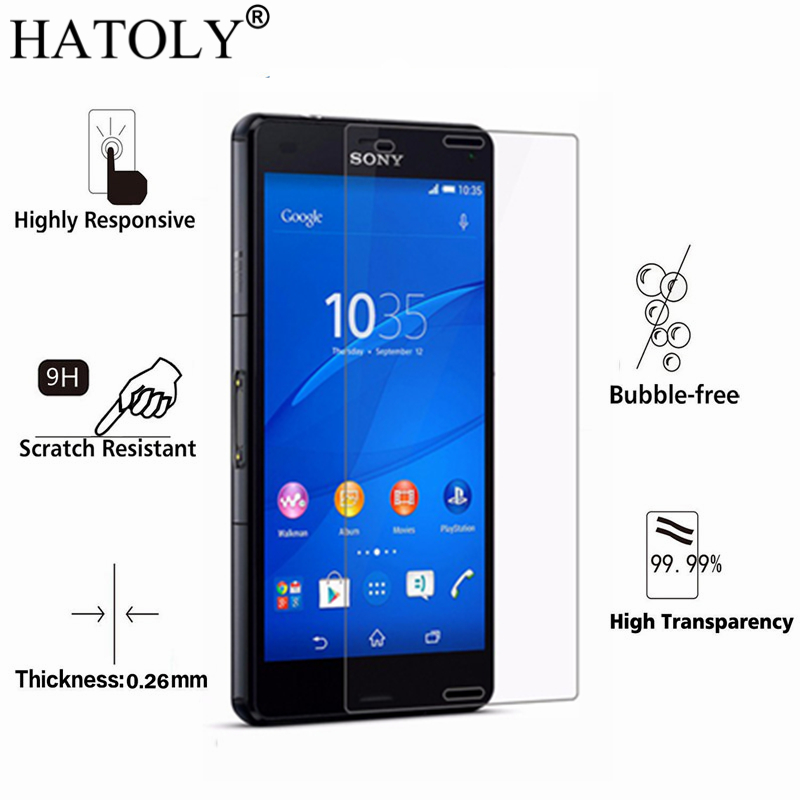2PCS Tempered Glass For Sony Xperia Z5 Ultra thin Screen Protector for Sony Z5 HD Toughened Film For Sony Xperia Z5 Glass HATOLY-in Phone Screen ...