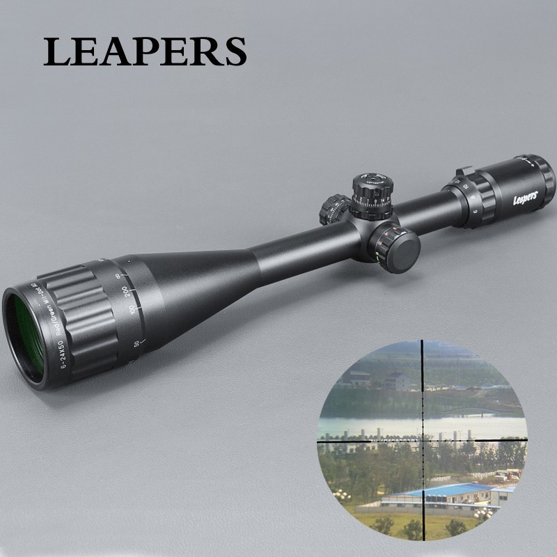 6-24X50 SALTADORES Riflescope Tactical Optical Rifle Scope Red Green Blue Dot Sight Iluminado Teórico Vista Para A Caça Ak 47