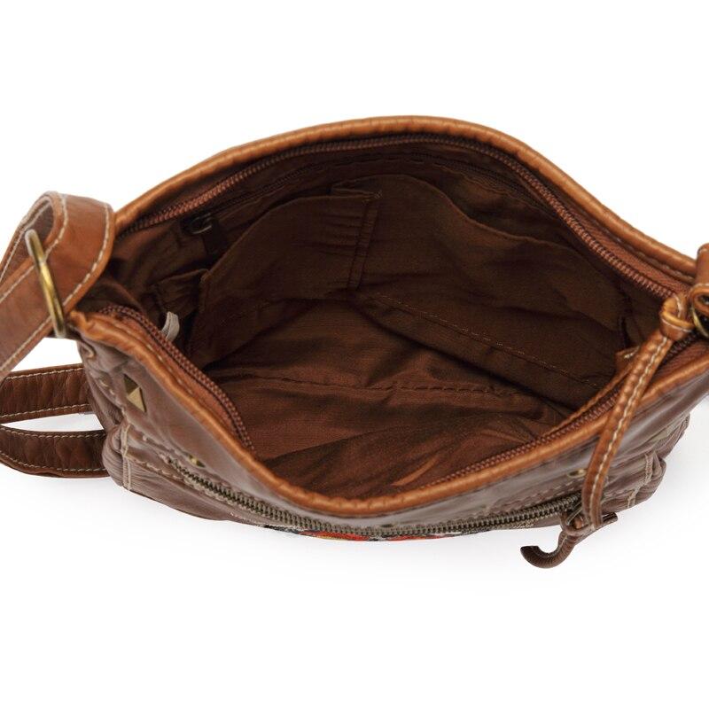 Annmouler vintage bolsa de ombro feminina 2