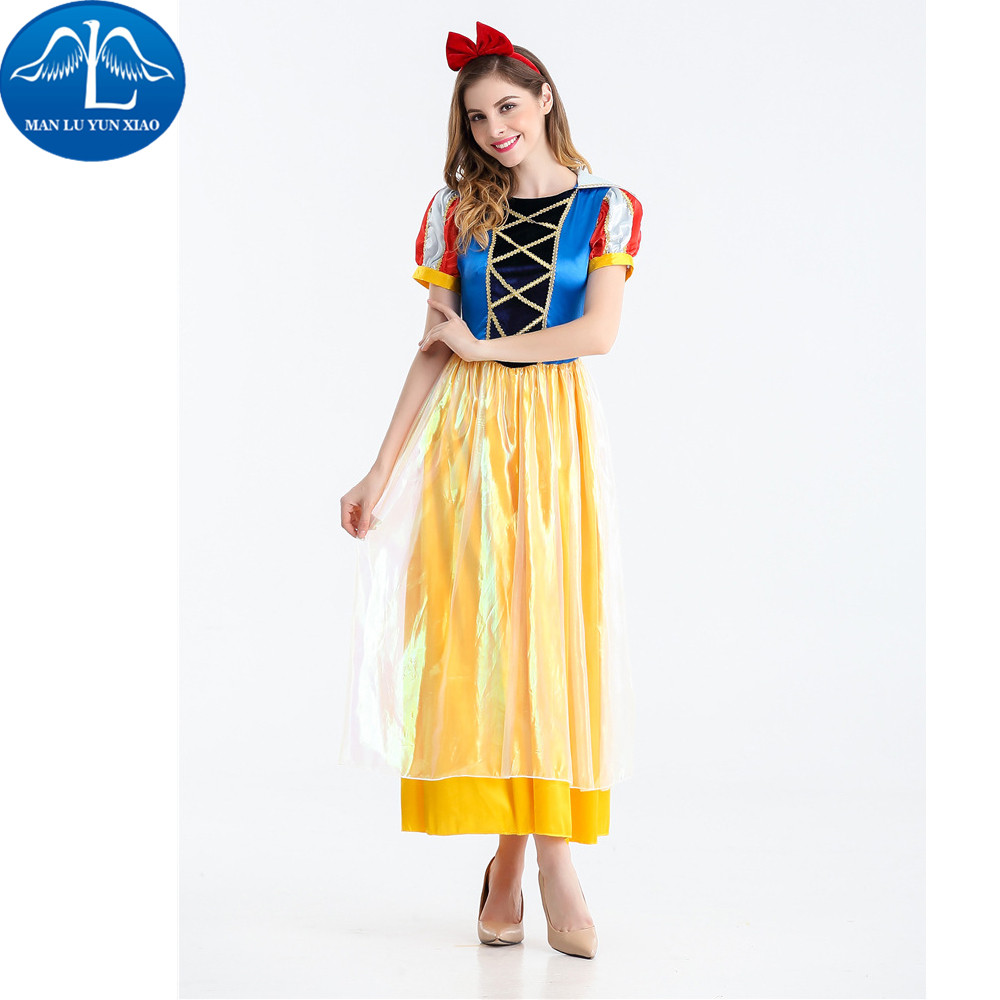 MANLUYUNXIAO New Women Halloween Cosplay Costume Princess Dress Woman Costume Performance Dance Show Costumes Wholesale