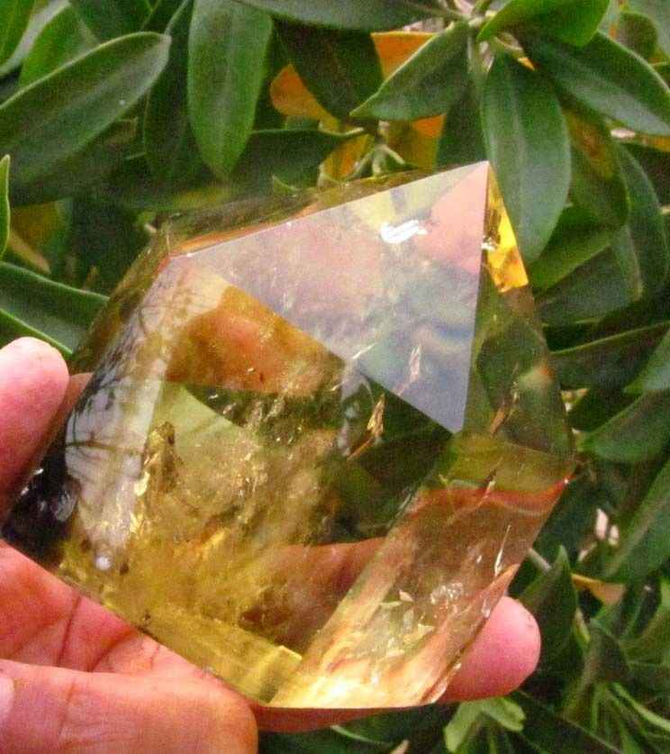 AA j00843 AAA NATURAL CITRINE SMOKY QUARTZ CRYSTAL POINT Healing