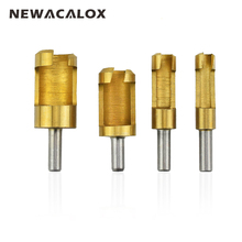 NEWACALOX Titanize Carpentry Wood Plug Cutter Straight Tapered Claw Type Drill Bit Sets Carving Tools Woodworking Carving Cutter