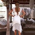 Женское кружевное вечернее платье Ordifree, белое элегантное облегающее длинное платье на бретелях-спагетти без рукавов, лето 2020