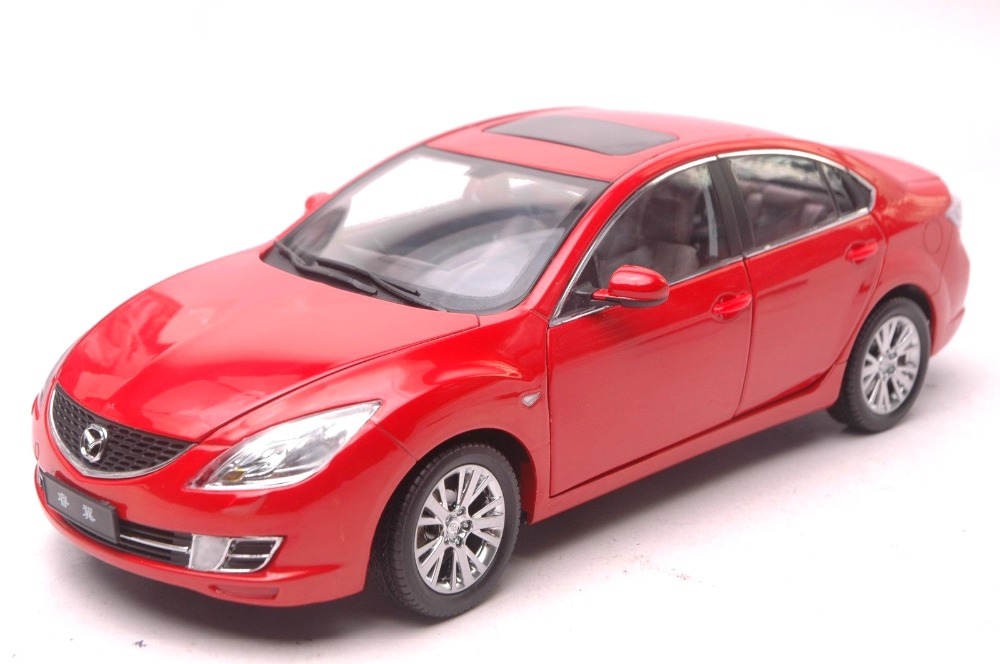 1:18 Diecast Model For Mazda 6 Ruiyi Red Sedan Alloy Toy Car Miniature Collection Gift