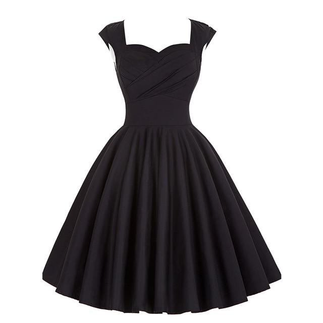 Audrey Hepburn Vestidos Plus Size Womens Dress Clothing Summer style Retro  Casual Party Robe Rockabilly 50s Vintage Dresses 2016 96fe2607271e