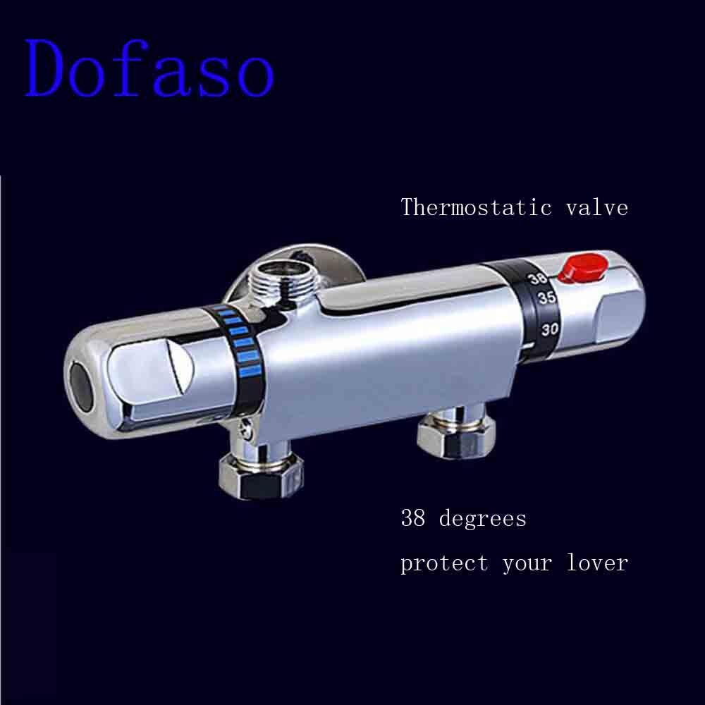 Dofaso céramique contrôle de température thermostatique mitigeur robinet mitigeur robinet de douche mural