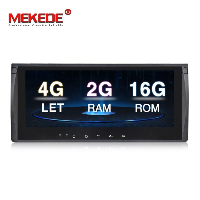 Quad core Android7.1 HD 10.25 ''Grand écran voiture lecteur Multimédia pour BMW E53 X5 E39 5/M5 97- 06 avec 4g LTE radio BT miroir ipod