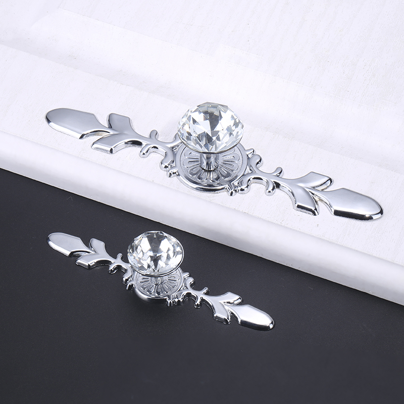 Luxury Diamond Crystal Handles Shoebox Cabinet Handles (1)