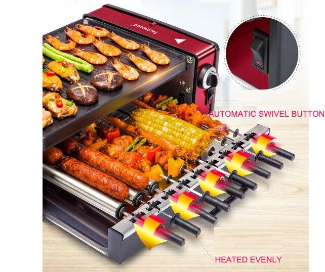 Barbecue coréen poêle électrique four sans fumée ménage électrique commercial barbecue machine doux pot