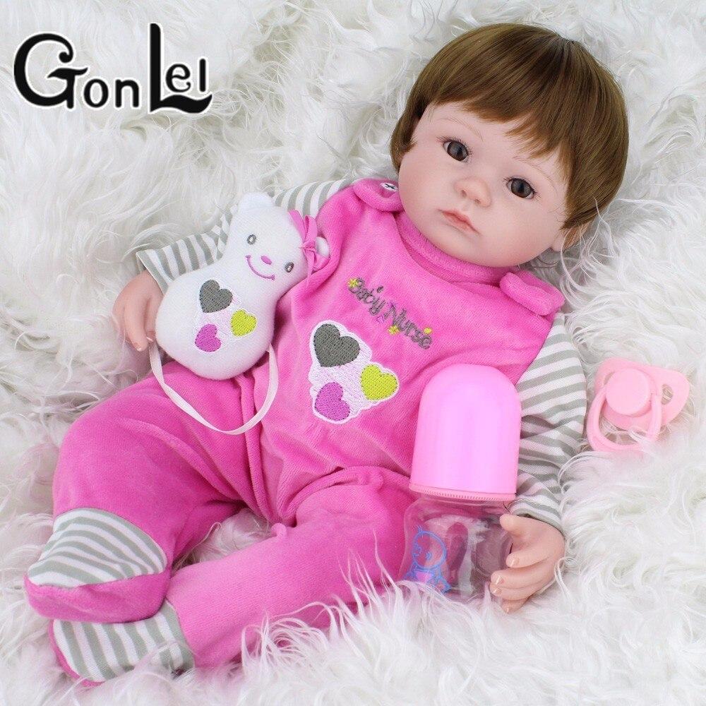 16 pouces 40 cm Silicone Reborn bébé poupées vivant réaliste réel réaliste enfants bebe Menina fille jouets cadeau d'anniversaire