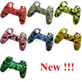 IVYQUEEN 2 in 1 Silicone Rubber Camo Protective Skin Case + Thumb Sticks Grips Cap For Sony Dualshock 4 PS4 Slim Pro Controller