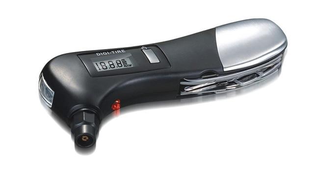 New Digital Tire Pressure Gauge LCD 4 in1 Mini Car Motorcycle Blacklight Tyre Portable Pressure Auto Monitoring