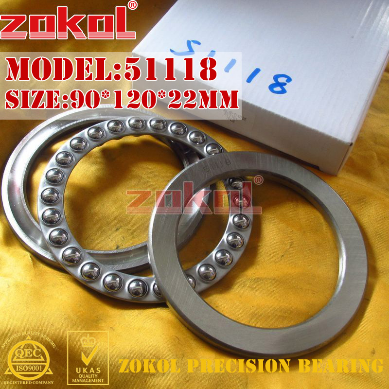 ZOKOL bearing 51118  Thrust Ball Bearing  8118 90*120*22mm zokol bearing 51411 thrust ball bearing 8411 55 120 48mm