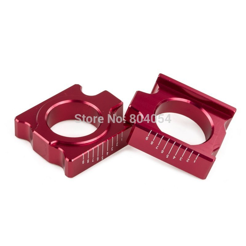 CNC Billet Scaled Rear Axle Blocks For Honda CR125R CR250R CRF250R CRF250X CRF450R CRF450X CRF 250R 250X 450R 450X for honda crf 250r 450r 2004 2006 crf 250x 450x 2004 2015 red motorcycle dirt bike off road cnc pivot brake clutch lever