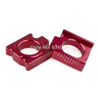 Red CNC Billet Scaled Rear Axle Blocks For Honda CRF250R CRF250X CRF450R CRF450X