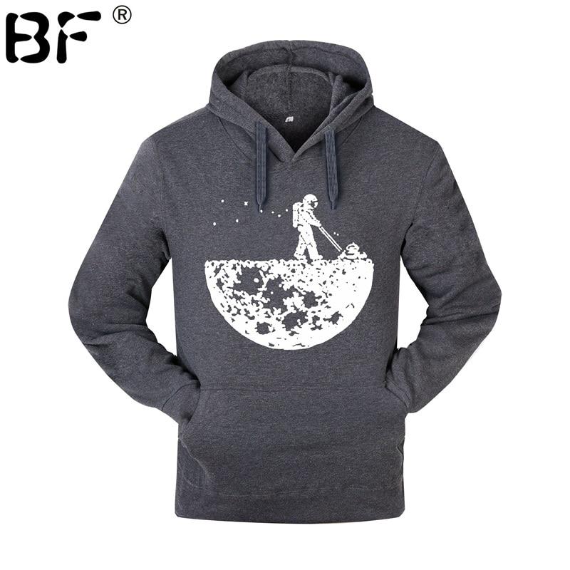 Develop The Moon hoodies 2018  Men Creative Design fleece hoodies brand tracksuits autumn winter harajuku sweatshirts man pullo