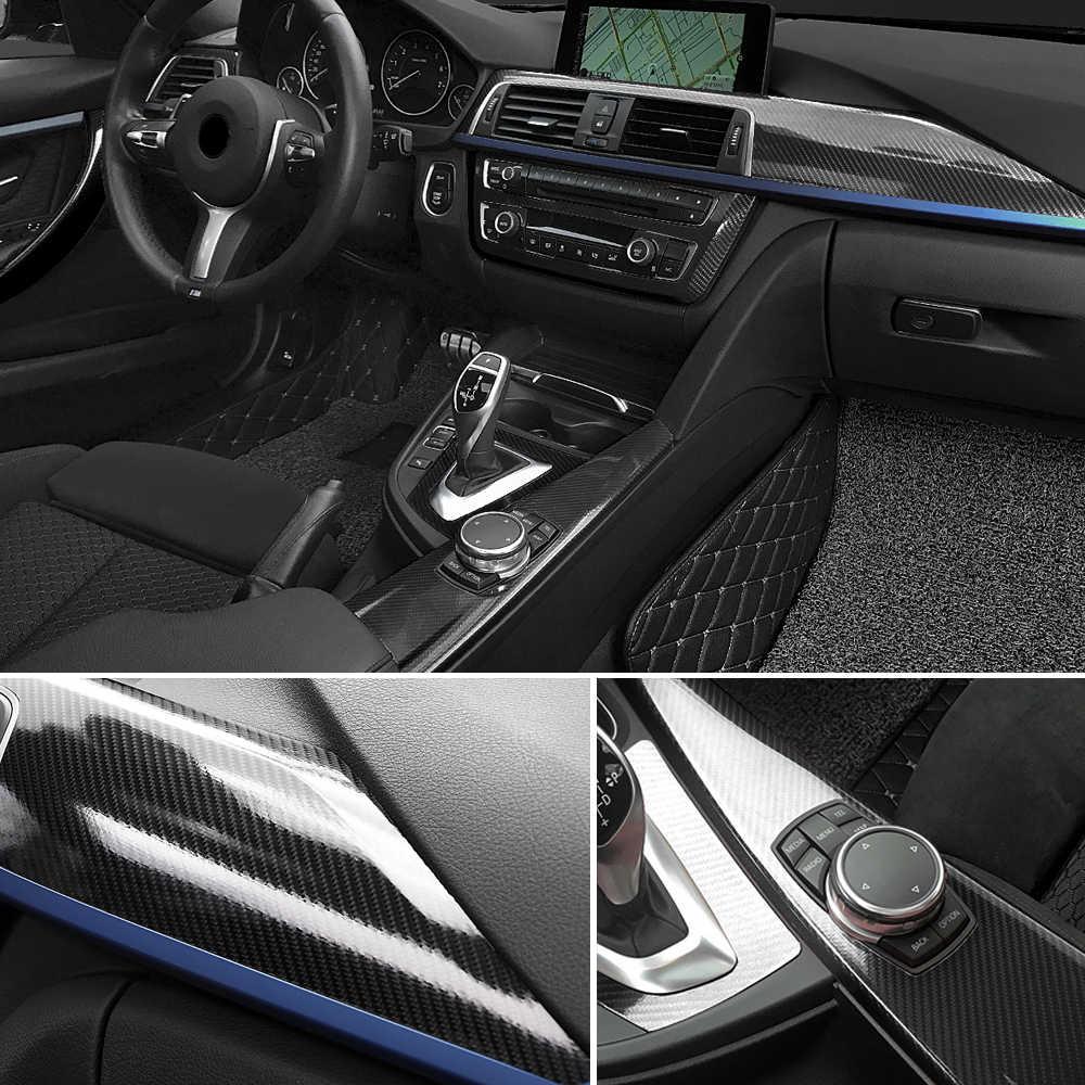 100cm * 30cm de alto brillo 5D de fibra de carbono de vinilo de la motocicleta pegatinas para Tablet y calcomanías Auto Accesorios Estilo de coche