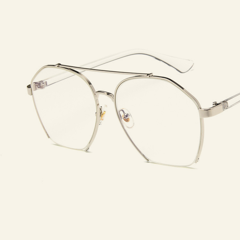 3f36b1d4a20 2018 new Korean version of the irregular flat mirror retro cut glasses frame  personality trend men and women glasses frame.