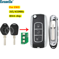 Flip Remote Key keyless entry fob transmitter 315mhz/433mhz ID44 chip for BMW 1 3 5 series E36 E38 E39 E46 X5 X3 Z4 HU58
